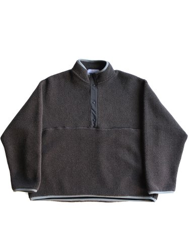 【Graphpaper women's】WOOL BOA HI-NECK PULLOVER (GRAY)_main