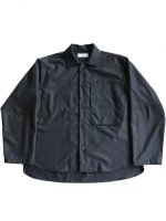 【WELLDER】BIG POCKET BOXY SHIRT (CHARCOAL GRAY)