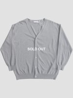 【Graphpaper men's】SUVIN CARDIGAN (C.GRAY)
