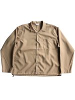 【WELLDER】DRAWSTRING SHIRT (KHAKI)