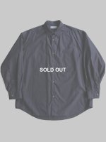 【Graphpaper men's】BROAD L/S OVERSIZE REGULAR COLLAR SHIRT (NAVY)