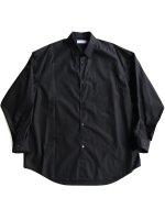 【Graphpaper men's】BROAD L/S OVERSIZE REGULAR COLLAR SHIRT (BLACK)