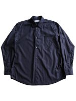 【Graphpaper men's】BROAD L/S REGULAR COLLAR SHIRT (NAVY)