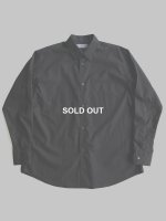 【Graphpaper】BROAD L/S REGULAR COLLAR SHIRT (BLACK)
