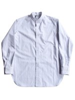 【AURALEE women's】WASHED FINX TWILL STRIPE SHIRTS (WIDE STRIPE)