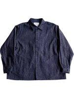 【YAECA women's】COMFORT SHIRT RELAX SQUARE (BLUE)