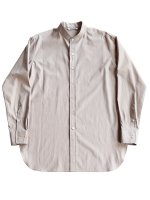 【AURALEE women's】WASHED FINX TWILL STRIPE SHIRTS (LIGHT BROWN)