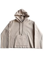 【AURALEE women's】SUPER MILLED SWEAT CUT-OFF P/O PARKA (KHAKI GRAY)