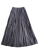 【Graphpaper women's】WOOL JERSEY PLEATS SKIRT (D.GRAY)
