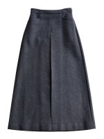 【AURALEE women's】LIGHT MELTON LONG SKIRT (TOP CHARCOAL)