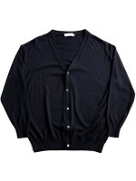 【Graphpaper men's】HIGH GAUGE KNIT CARDIGAN (BLACK)