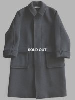 【Graphpaper】WOOL CASHMERE MELTON COAT (D.GRAY)