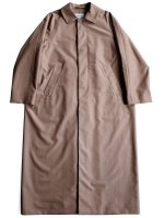 【YAECA women's】SOUTIEN COLLAR COAT LONG (BROWN)