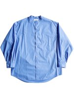 【Graphpaper】BROAD OVERSIZE L/S BAND COLLAR SHIRT (BLUE)