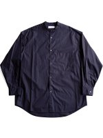 【Graphpaper】BROAD OVERSIZE L/S BAND COLLAR SHIRT (NAVY)