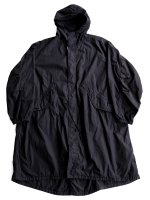 【Graphpaper】GARMENT DYED POPLIN MODS COAT (BLACK)