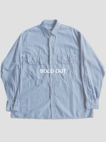 【COMOLI】ベタシャンCPOシャツ (SAX)