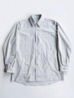 【THE HINOKI】オーガニックコットンポプリンルーズフィットシャツ (H.GRAY)