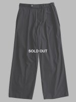 【Graphpaper】SELVAGE WOOL WIDE CHEF PANTS (BLACK)