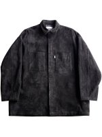 【Graphpaper】GOAT SUEDE BOX SHIRT JACKET (BLACK)