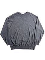 【Graphpaper】HIGH GAUGE CREW NECK KNIT (C.GRAY)