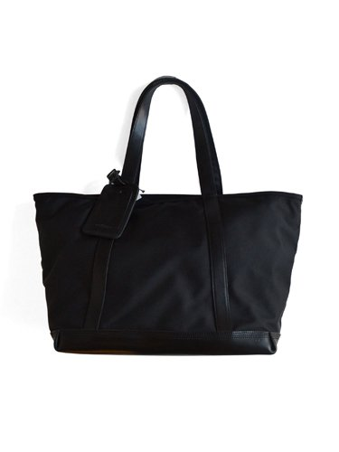 【ARTS&CRAFTS】BLACK NYLON / BASIC ZIP TOP TOTE (BLACK)_main