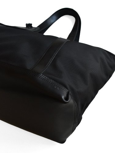 【ARTS&CRAFTS】BLACK NYLON / BASIC ZIP TOP TOTE (BLACK)_1