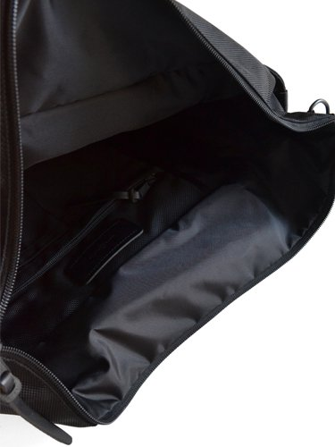 【ARTS&CRAFTS】BLACK NYLON / BASIC ZIP TOP TOTE (BLACK)_2