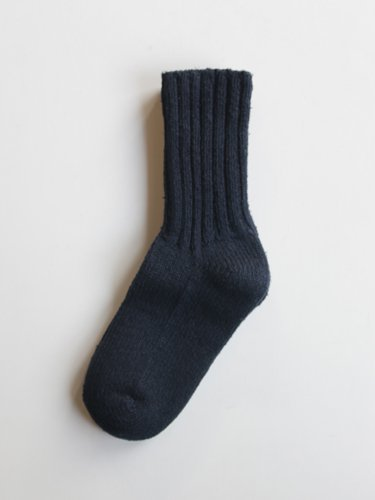 【YAECA unisex】COTTON SILK SOCKS (NAVY)_1