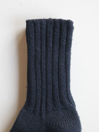 【YAECA unisex】COTTON SILK SOCKS (NAVY)_2
