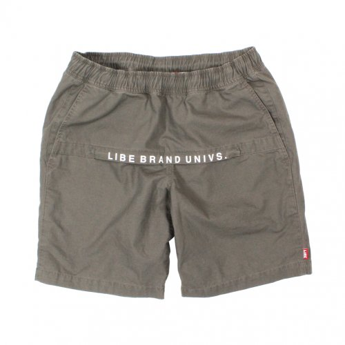 LIBE (ライブ) × REMILLA WASHED ZIP SHORTS (OLIVE) 16S21