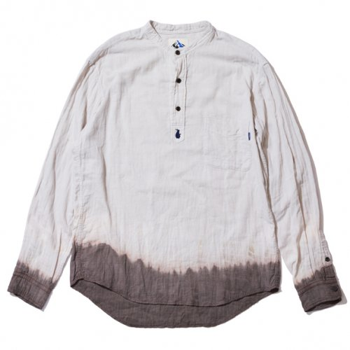 【30%OFF】DEVADURGA (デヴァドゥルガ) HALVE COLLARLESS SHIRTS (NATURAL) dg-588
