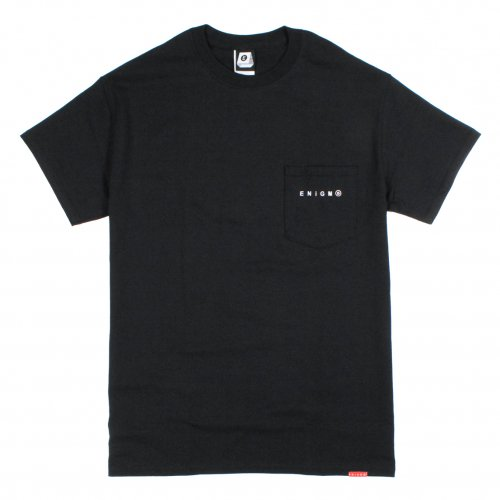 ENiGMa (エニグマ) LOGO POCKET TEE (BLACK)