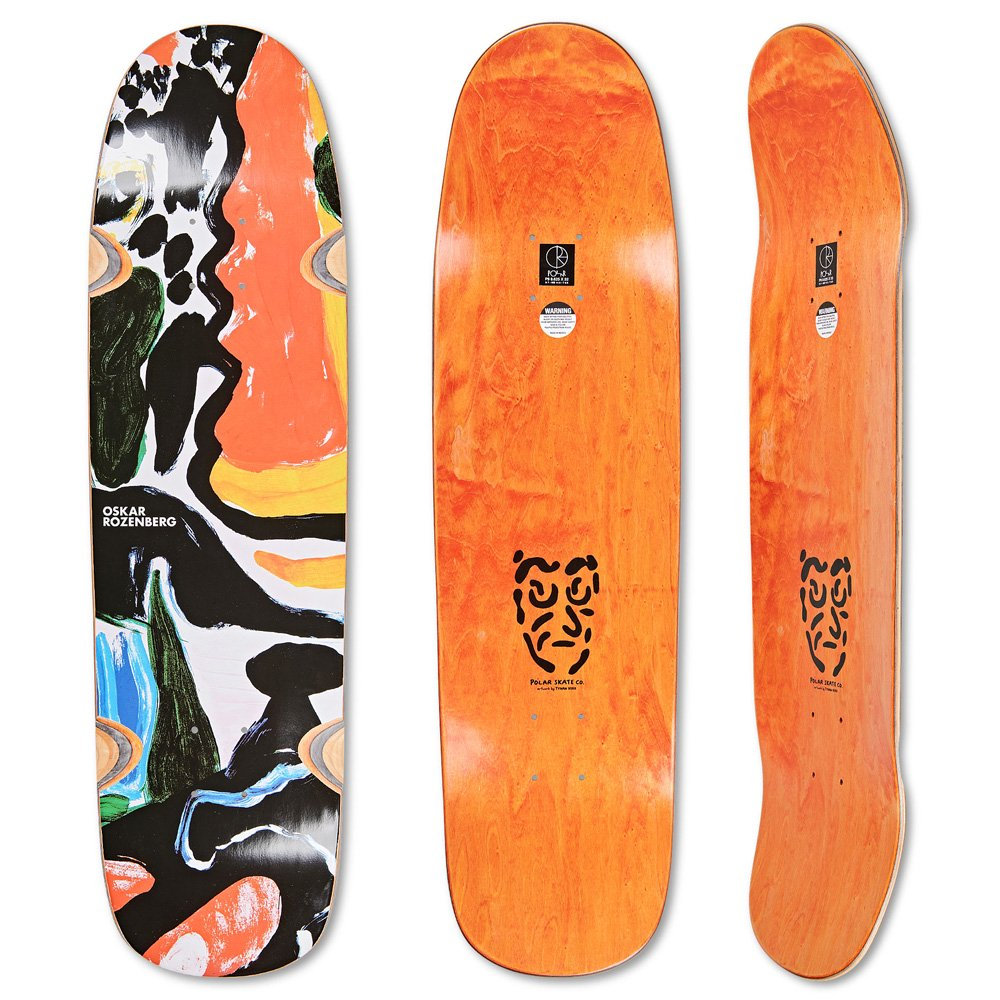 POLAR SKATE CO. ( ポーラー ) デッキ SHIN SANBONGI - FREEDOM - LIME ( SURF SHAPE / 9.0 )