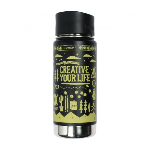 "GOHEMP ( ゴーヘンプ ) × KTCN KANTEEN BOTTLE ""CREATIVE YOUR LIFE"" (BLACK) GHG0006KTN"