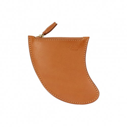 RULEZPEEPS ( ルールズピープス ) FIN LEATHER COIN CASE L (CAMEL)