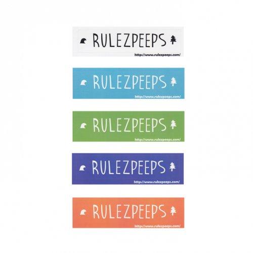 RULEZPEEPS ( ルールズピープス ) ステッカー NEWロゴ四角 (S)