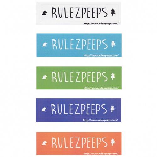 RULEZPEEPS ( ルールズピープス ) ステッカー NEWロゴ四角 (L)