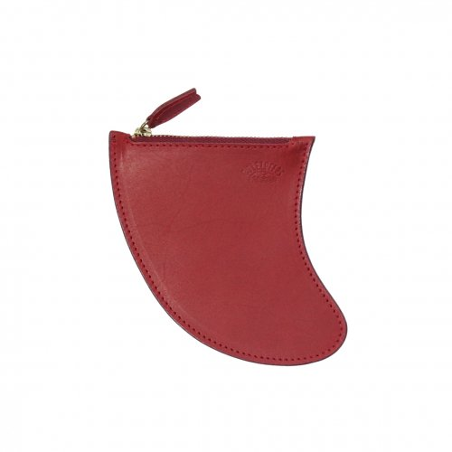 RULEZPEEPS ( ルールズピープス ) FIN LEATHER COIN CASE L (WINE)