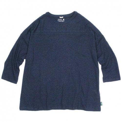 GOHEMP ( ゴーヘンプ ) ワイドフットボールTシャツ BASIC LADY'S WIDE FOOTBALL TEE ( MARINE NAVY ) GHC4298RG