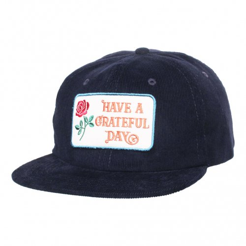 GOWEST ( ゴーウエスト ) キャップ GRATEFUL DAY CORDUROY CAP ( NAVY ) GWG4002HGD