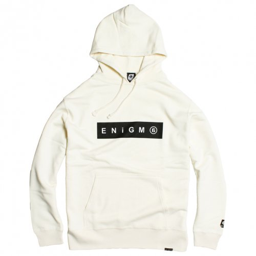 ENiGMa (エニグマ) BOX LOGO HOODIE (NATURAL)