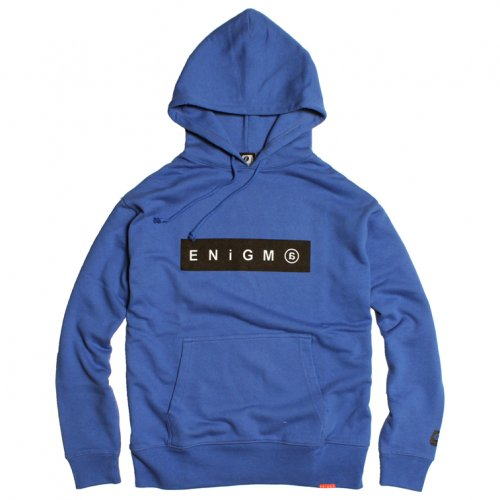 ENiGMa (エニグマ) BOX LOGO HOODIE (BLUE)