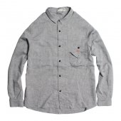 RULEZPEEPS (ルールズピープス) O/G COTTON LINEN GOODAY SHIRT  (CHARCOAL GREY) 17RZ0030