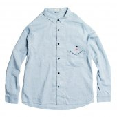 RULEZPEEPS (ルールズピープス) O/G COTTON LINEN GOODAY SHIRT (LT BLUE) 17RZ0030