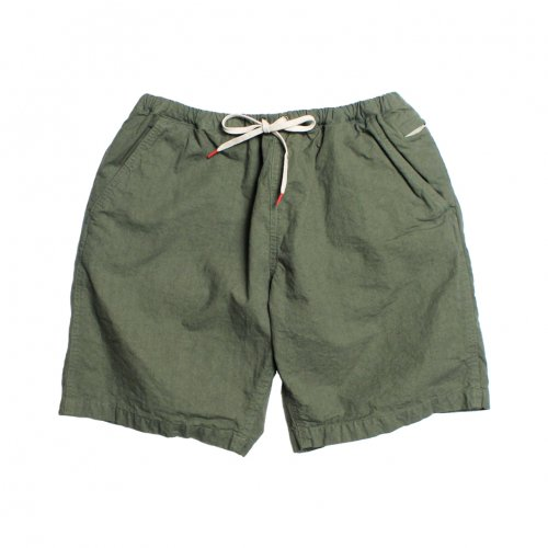 RULEZPEEPS (ルールズピープス) O/G COTTON LINEN TRIP SHORTS (KHAKI) 17RZ0035