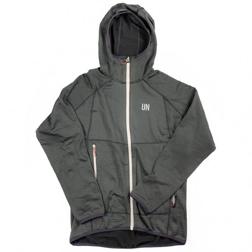 UN ( ユーエヌ ) UN2100 LIGHT WEIGHT FLEECE HOODY ( CHARCOAL )