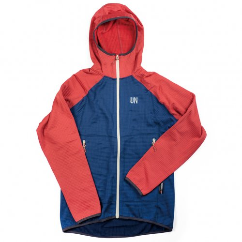 UN ( ユーエヌ ) UN2100 LIGHT WEIGHT FLEECE HOODY ( NAVY : RED )