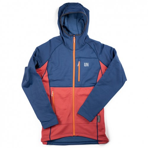 UN ( ユーエヌ ) UN3100 MID WEIGHT FLEECE HOODY ( NAVY : RED )