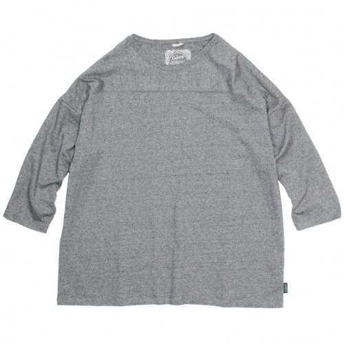 GOHEMP (ゴーヘンプ) BASIC MEN'S L/SL TEE (BLACK HEATHER) GHC4260TP5